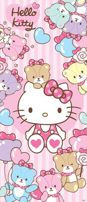 Hello Kitty Girls Childrens Deurposter Fotobehang 460VET