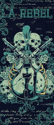 Skull Deurposter Fotobehang 842VET