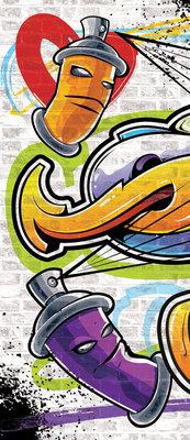 Colourful Graffiti Deurposter Fotobehang 1399VET