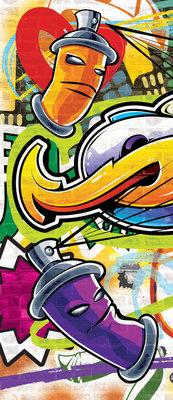 Colourful Graffiti Deurposter Fotobehang 1400VET