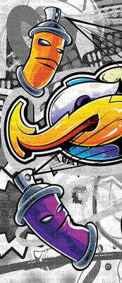 Colourful Graffiti Deurposter Fotobehang 2295VET