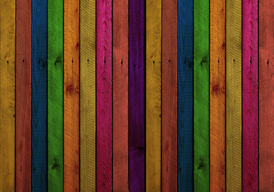 Gekleurde Houten Panelen Fotobehang 12601P8