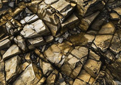 Gouden Stenen Fotobehang 12610P8