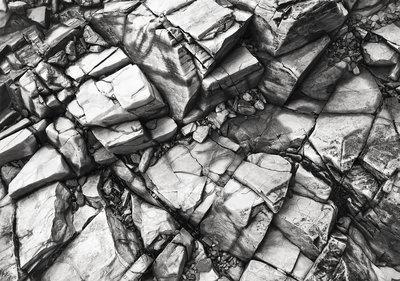 Zilveren Stenen Fotobehang 12611P8