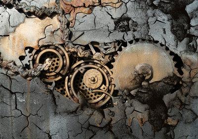 Beton Mechanisch Fotobehang 12612P8