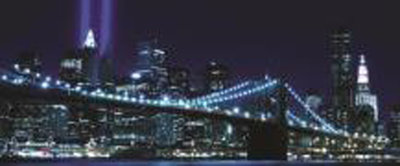 New York Brooklyn Bridge City Panorama Fotobehang 232VEP