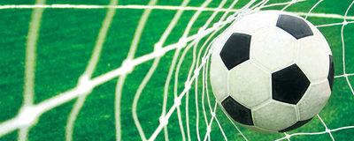 Ball in Goal Panorama Fotobehang 015VEP