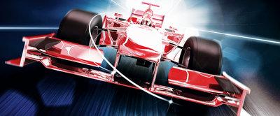 Red Formula 1 3D F1 Panorama Fotobehang 325VEP