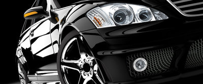 Black Luxurious Car Panorama Fotobehang 416VEP