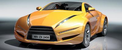 Yellow Car Panorama Fotobehang 143VEP
