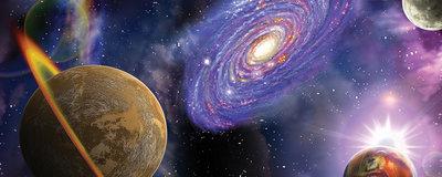 Space Galaxy Planets Panorama Fotobehang 309VEP