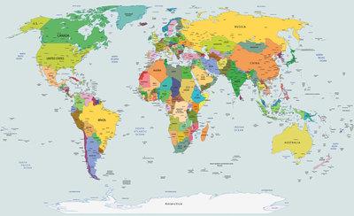 Wereldkaart Fotobehang 2644P8