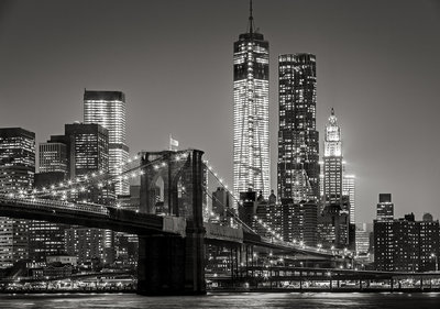 New York by Night Fotobehang 13032P8