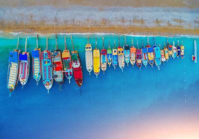 Kleurrijke Boten Fotobehang 12674P8