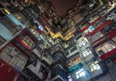 Hong Kong Huizen Fotobehang 12669P8
