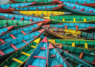 Kleurrijke Boten Fotobehang 12636P8