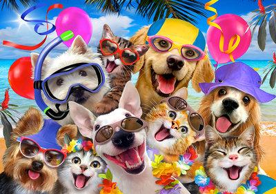 Honden & Katten Selfie Fotobehang 12865P8