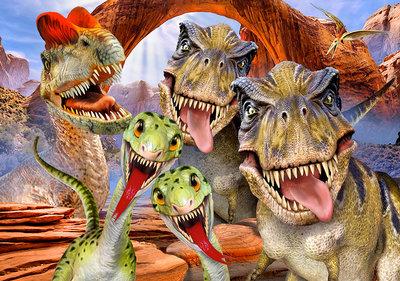 Dino's Selfie Fotobehang 12845P8