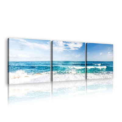 Beach and Peaceful Ocean Canvas Schilderij PS10218S13