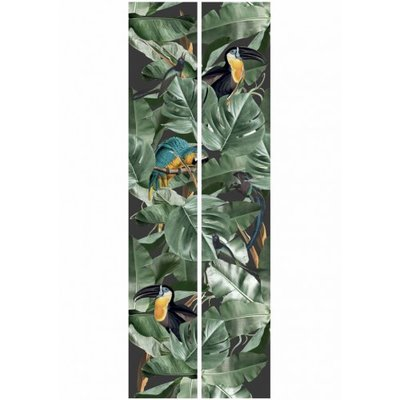 KEK Botanical Birds black 2d WP-579 (Met Gratis Lijm)