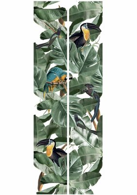 KEK Botanical Birds white 2d WP-580 (Met Gratis Lijm)