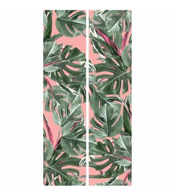KEK Botanical leaves pink 2d WP-581 (Met Gratis Lijm)