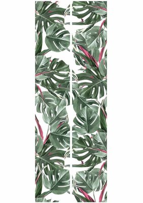 KEK Botanical leaves white 2d WP-582 (Met Gratis Lijm)