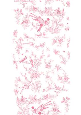 KEK Amsterdam Birds & Blossom roze WP.376 (Met Gratis Lijm)
