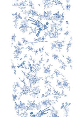 KEK Amsterdam Birds & Blossom blue WP.378 (Met Gratis Lijm)