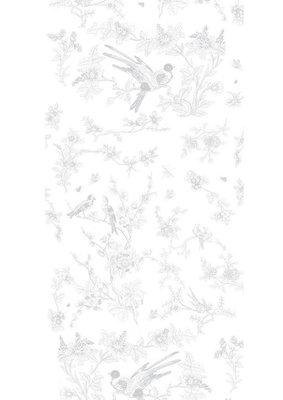 KEK Amsterdam Birds & Blossom grijs WP.379 (Met Gratis Lijm)