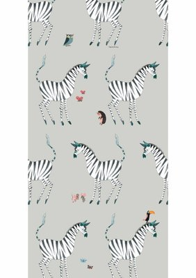 KEK Behang Zebra, grey WP-126 (Met Gratis Lijm)