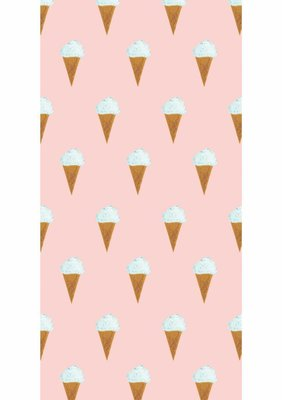 KEK Behang Ice cream, pink WP-129 (Met Gratis Lijm)