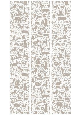 KEK Amsterdam animal alphabet d.grijs WP.046 (Met Gratis Lijm)