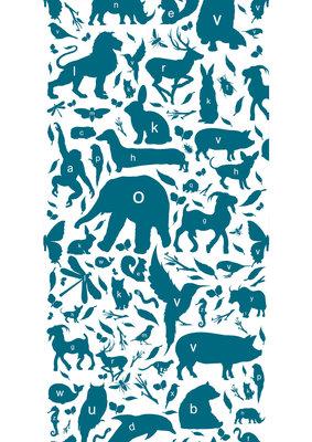 KEK Amsterdam animal alphabet petrol WP.049 (Met Gratis Lijm)