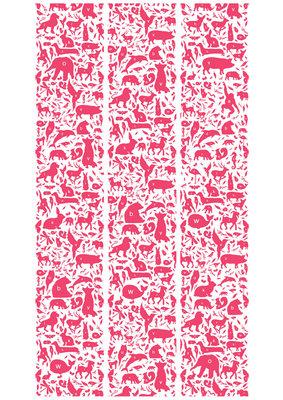 KEK Amsterdam animal alphabet fuchsia WP.051 (Met Gratis Lijm)