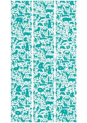 KEK Amsterdam animal alphabet turquoise WP.052 (Met Gratis Lijm)