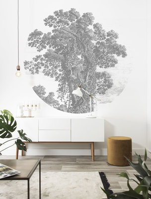 KEK Circle Engraved Tree CK-013 (Met Gratis Lijm)