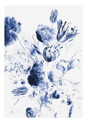 KEK Amsterdam Royal Blue Flowers II WP.208 (Met Gratis Lijm)