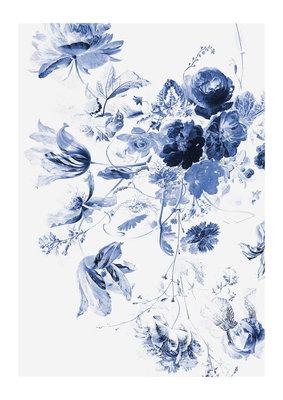 KEK Amsterdam Royal Blue Flowers III WP.209 (Met Gratis Lijm)