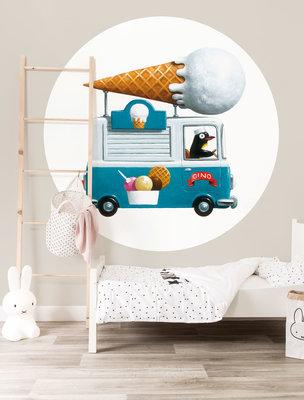 KEK Circle Ice cream Truck CK-039 (Met Gratis Lijm)