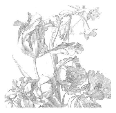 KEK Amsterdam Engraved Flowers I WP.331 (Met Gratis Lijm)