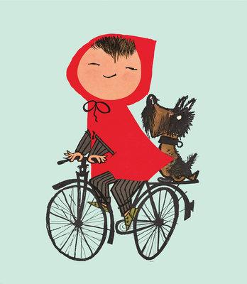 KEK Amsterdam Riding my Bike groen WS.036 (Met Gratis Lijm)