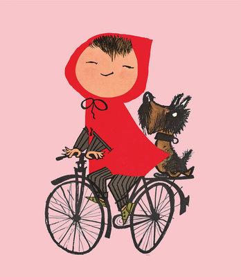 KEK Amsterdam Riding my Bike roze WS.037 (Met Gratis Lijm)