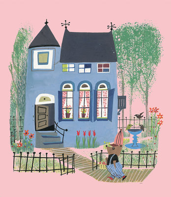 KEK Amsterdam Bear with Blue House WS.043 (Met Gratis Lijm)