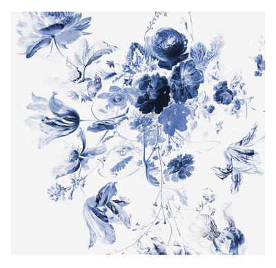 KEK Amsterdam Royal Blue Flowers III WP.219 (Met Gratis Lijm)