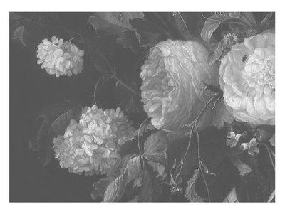 KEK Amsterdam Big Black & White Flowers II WP.346 (Met Gratis Lijm)