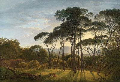 Rijksmuseum Italiaans Landschap met parasoldennen Hendrik Voogd RM1 (Met Gratis Lijm)