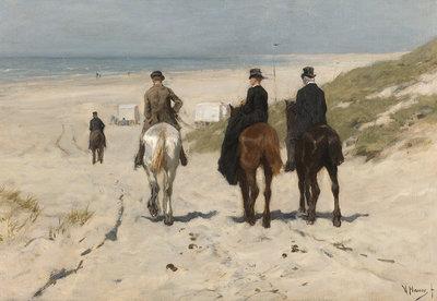 Rijksmuseum Morgenrit langs het strand Anton Mauve RM15 (Met Gratis Lijm)