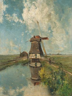 Rijksmuseum Molen Poldervaart in de maand Juli RM16 (Met Gratis Lijm)