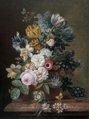 Rijksmuseum Stilleven met bloemen Eelke Jelles Eelkema RM10 (Met Gratis Lijm)